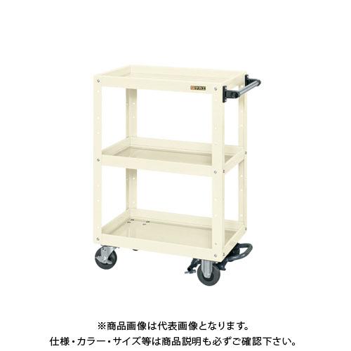 【直送品】サカエ ニューCSスーパーワゴン フットブレーキ付 CSWA-608BRI