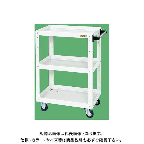 【直送品】サカエ ニューCSスーパーワゴン(パールホワイト) CSWA-608JW