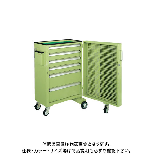 【直送品】サカエ キャビネットワゴンスイングドア付 CW-SD1N