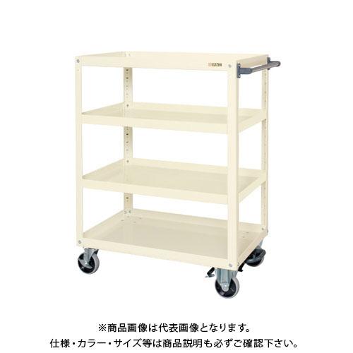 【直送品】サカエ スーパーワゴン(ナイロンウレタン車・フットブレーキ付) EGR-200LBRNUI