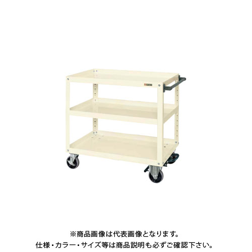 【直送品】サカエ スーパーワゴン フットブレーキ付 EGR-600BRNUI