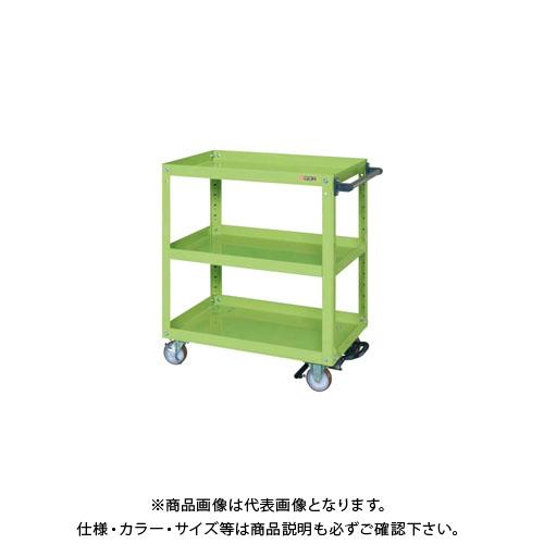 【直送品】サカエ スーパーワゴン フットブレーキ付 EGR-600BRNU