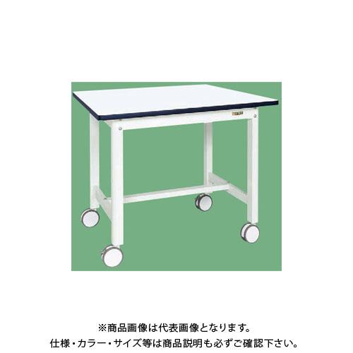 【直送品】サカエ 中量作業台(扇形支柱・双輪キャスター付) KF-38RDW