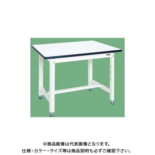 【直送品】サカエ 中量作業台・扇形支柱(パールホワイト) KF-39W