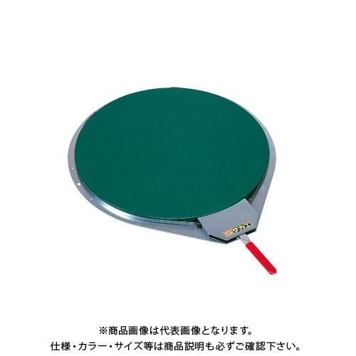 【直送品】サカエ クルクル回転盤・スチール製ゴムマット付 KH-410