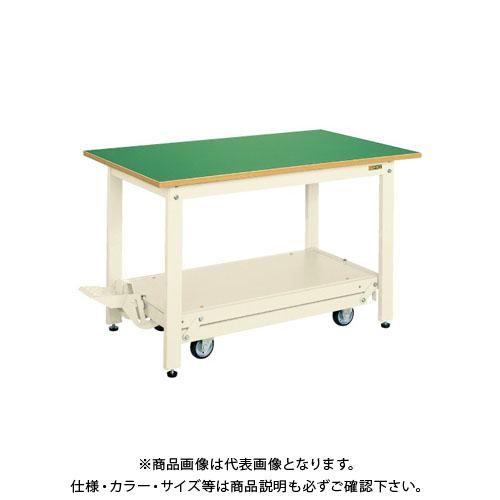 【直送品】サカエ 軽量作業台KKタイプ・ペダル昇降移動式 KK-187FIG