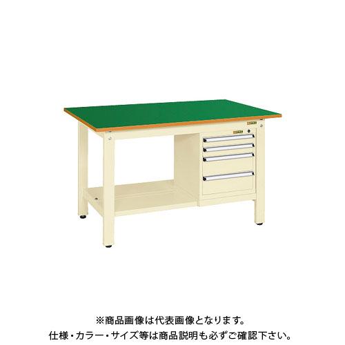 【直送品】サカエ 軽量作業台KKタイプ スモールキャビネット付 KK-49FSL4IG