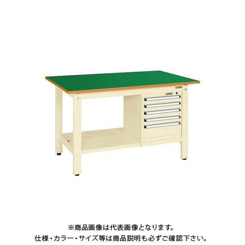 【直送品】サカエ 軽量作業台KKタイプ スモールキャビネット付 KK-59FSL5IG