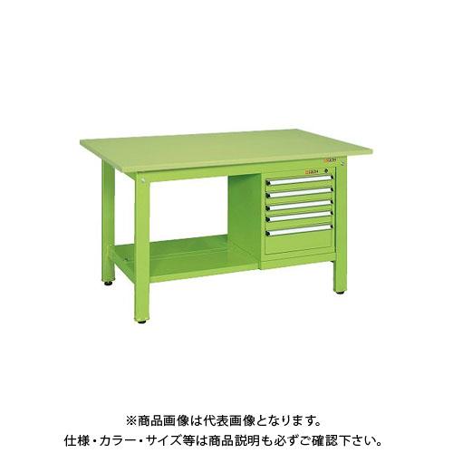【直送品】サカエ 軽量作業台KKタイプ スモールキャビネット付 KK-69SSL5