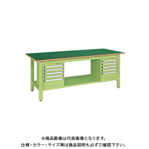 【直送品】サカエ 軽量作業台KKタイプ スモールキャビネット付 KK-69FSL52
