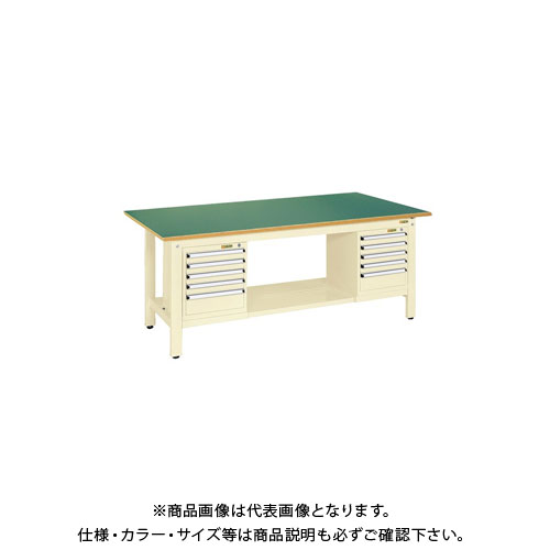 【直送品】サカエ 軽量作業台KKタイプ スモールキャビネット付 KK-69FSL52IG