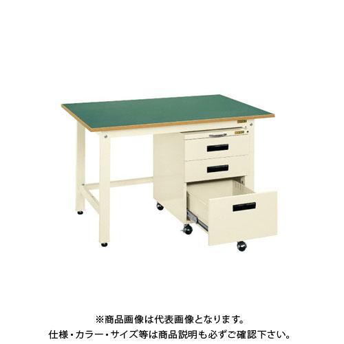 【直送品】サカエ 軽量作業台KKタイプ・キャビネットワゴン付 KKF-127EI