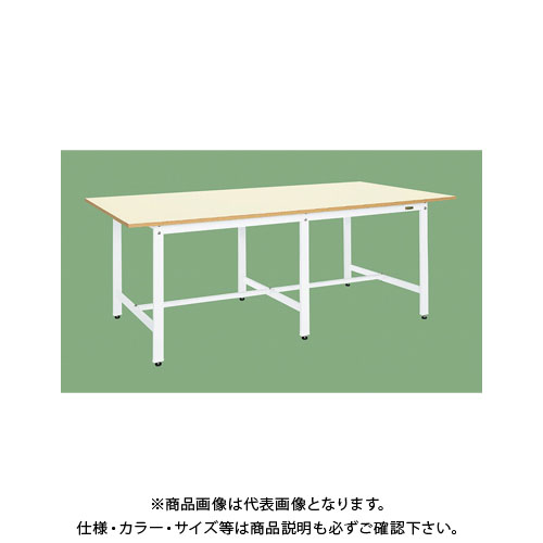 【直送品】サカエ 大型作業台(パールホワイト) KKM-2412W