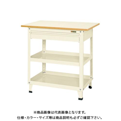 【直送品】サカエ スーパーワゴン固定タイプ(天板・引出し付) KMN-150CTI