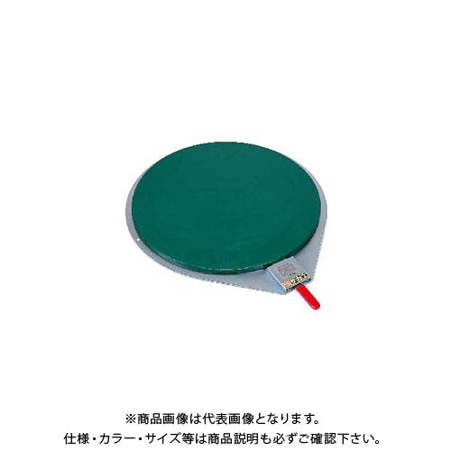 【直送品】サカエ クルクル回転盤・スチール製ゴムマット付 KS-410