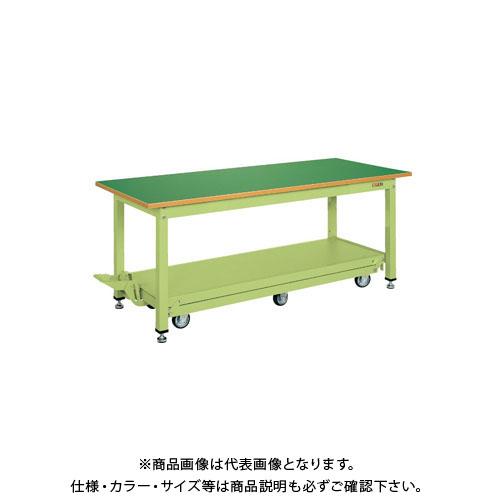 【直送品】サカエ 中量作業台KTタイプ・ペダル昇降移動式 KT-187Q6F