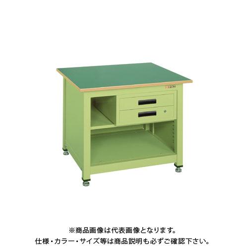 【直送品】サカエ 一人用作業台・中量固定式 KT-212N