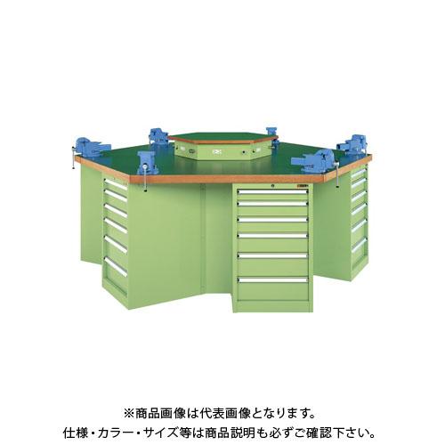 【直送品】サカエ 六角形作業台 KW6F-24JT
