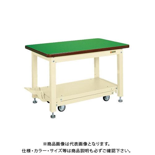 【直送品】サカエ 重量作業台KWCタイプ・ペダル昇降移動式 KWCF-158Q6