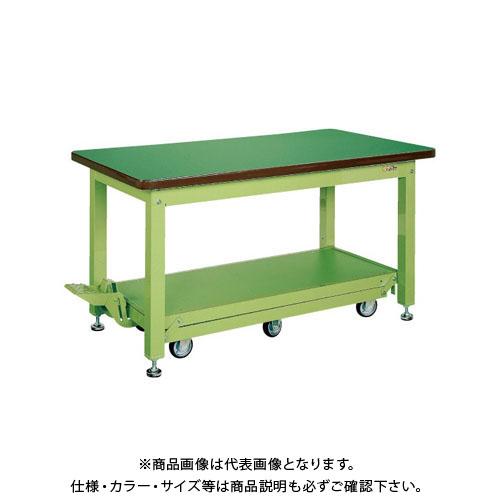 【直送品】サカエ 重量作業台KWCタイプ・ペダル昇降移動式 KWCS-188Q6