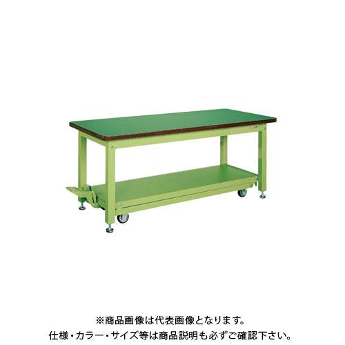 【直送品】サカエ 重量作業台KWCタイプ・ペダル昇降移動式 KWCF-128