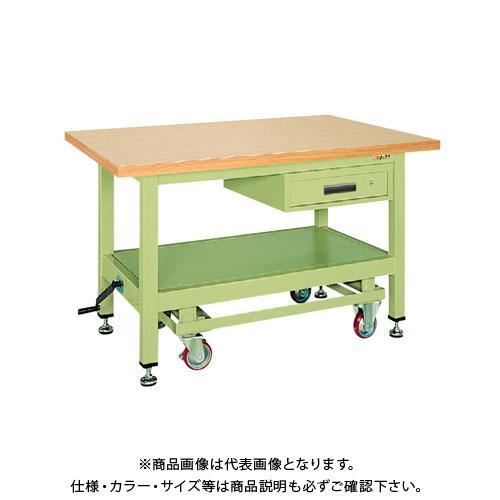 【直送品】サカエ 超重量作業台KWCタイプ・ハンドル昇降移動式 KWCG-89A
