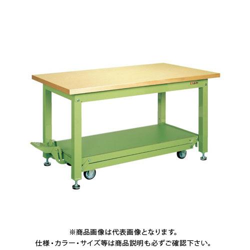 【直送品】サカエ 重量作業台KWCタイプ・ペダル昇降移動式 KWCG-188