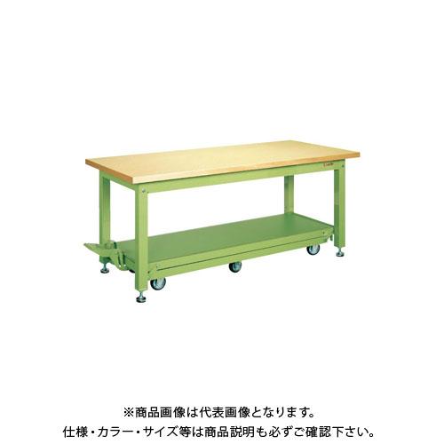 【直送品】サカエ 重量作業台KWCタイプ・ペダル昇降移動式 KWCG-188Q6