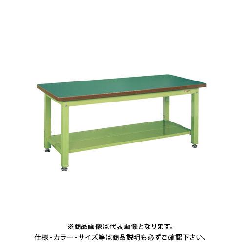 【直送品】サカエ 重量作業台KWタイプ中板2枚付 KWF-189T1