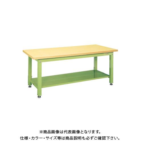 【直送品】サカエ 重量作業台KWタイプ中板2枚付 KWG-158T1