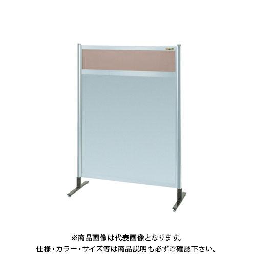 【直送品】サカエ パーティション 透明カラー塩ビ(上) アルミ板(下)タイプ(単体) NAK-44NT