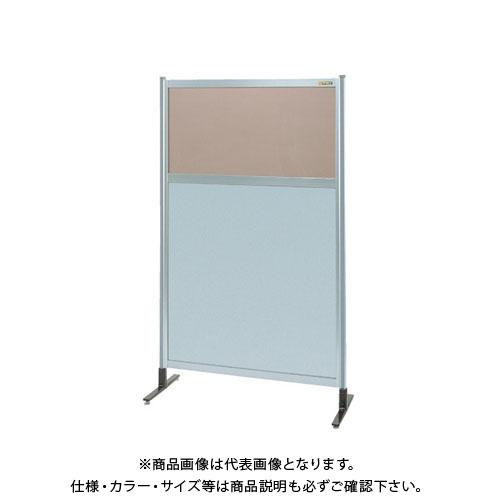 【直送品】サカエ パーティション 透明カラー塩ビ(上) アルミ板(下)タイプ(単体) NAK-35NT