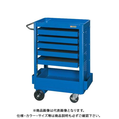 【直送品】サカエ 工具収納ワゴン NTW-640C5B