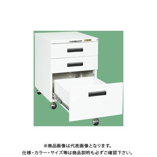 【直送品】サカエ キャビネットワゴン NW-3CBW