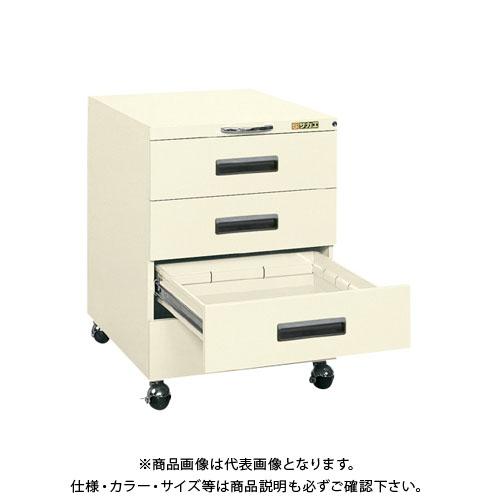 【直送品】サカエ 作業台用キャビネットワゴン NW-4CBI