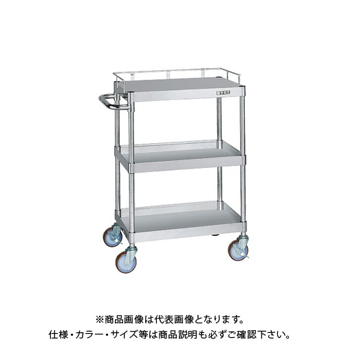 【直送品】サカエ ステンレスニューパールワゴン コボレ止め付 PKR4-03KA