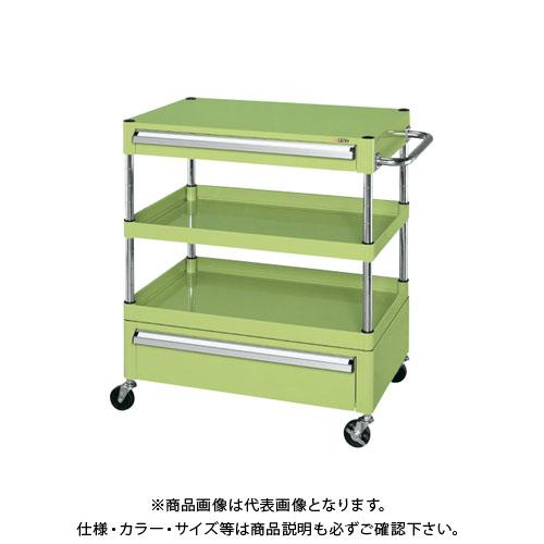 【直送品】サカエ ニューパールワゴン引出し付 PKR-2RAN