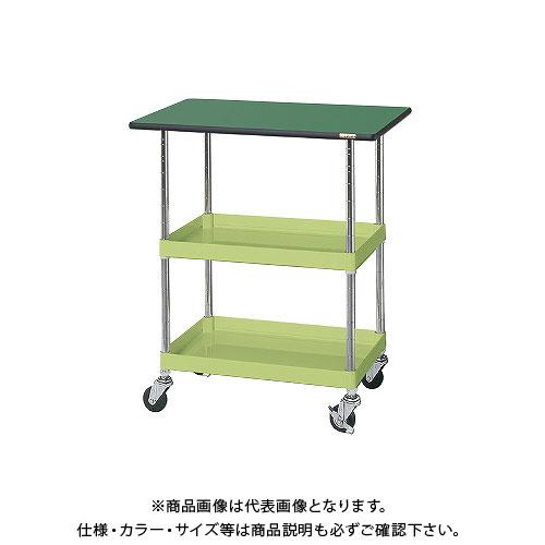 【直送品】サカエ ニューパールワゴン(天板付・ゴム車) PKR-203T