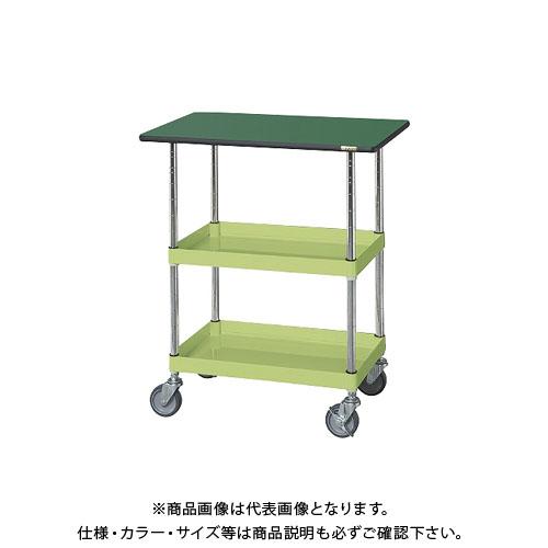 【直送品】サカエ ニューパールワゴン(天板付・ゴム車) PMR-150MNT