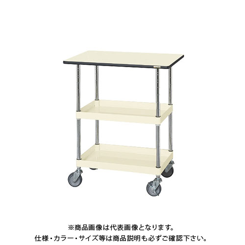 【直送品】サカエ ニューパールワゴン(天板付・ゴム車) PMR-150MNTI