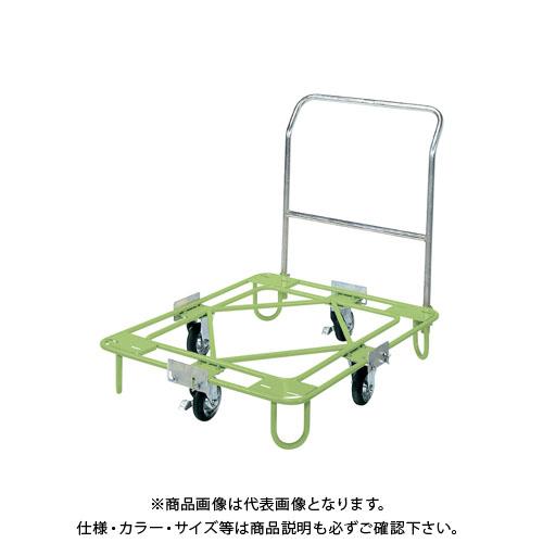 【直送品】サカエ 自在移動回転台車(取手付タイプ) RA-3TG
