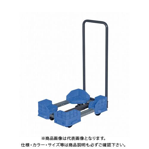 【直送品】サカエ 伸縮式樹脂台車(スタッキング・連結仕様・ゴム車・取手付) SCR-5450RBT