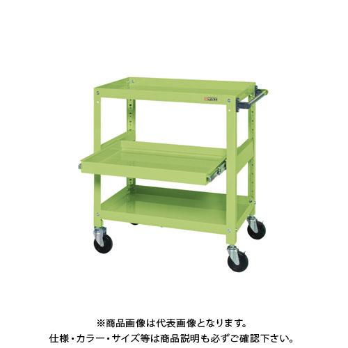 【直送品】サカエ スーパースペシャルワゴン・スライド棚付 SSW-222S