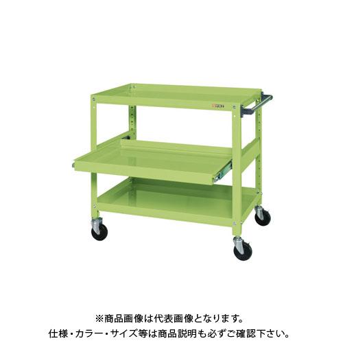 【直送品】サカエ スーパースペシャルワゴン・スライド棚付 SSW-442S