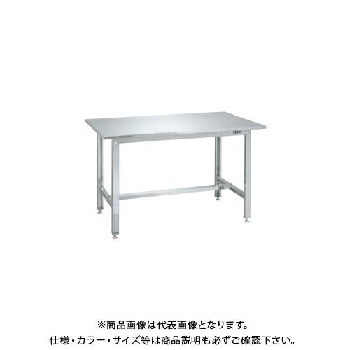【直送品】サカエ ステンレス作業台(ステンレスカブセ天板) SUS4-127HCLC