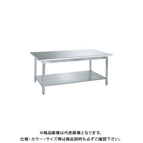 【直送品】サカエ ステンレス作業台(天板R付)・中板2枚付 SUS4-187T2R