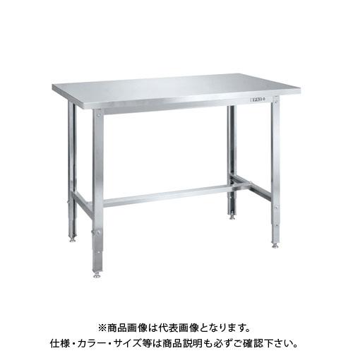 【直送品】サカエ ステンレス高さ調整作業台(ステンレスカブセ天板) SUT4-157HCLC