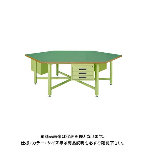 【直送品】サカエ 六角形作業台・中量STWタイプ SWT-24C