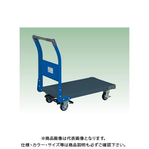 【直送品】サカエ 特製四輪車(ツートン・フットブレーキ付) TAN-22BRDB