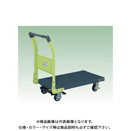 【直送品】サカエ 特製四輪車(ツートン・フットブレーキ付) TAN-22BRDG